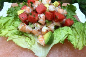 Shrimp and Watermelon Ceviche